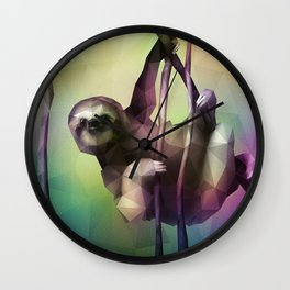 Sloth (Low Poly Multi) Wall Clock
