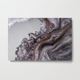 Tiny Agate and crystals Metal Print