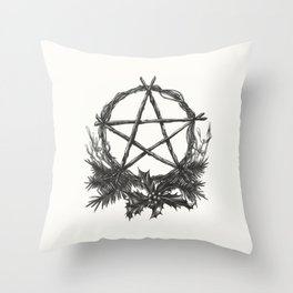 Yule Blessings Throw Pillow