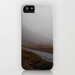 Highland Road in Scotland iPhone Case