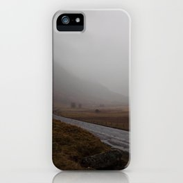 Highland Road in Scotland iPhone Case