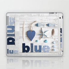 Blue collected items maritime collage Laptop & iPad Skin