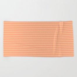 Peach Stripes Design Beach Towel