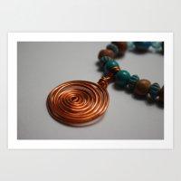 Copper Swirl Necklace Art Print
