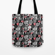 Red Panda Forest - Black Tote Bag