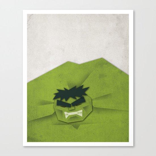Paper Heroes - Hulk Canvas Print