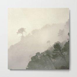 """Mountain light II"".(C) Foggy forest. Metal Print"