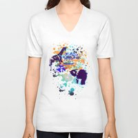chaos V-neck T-shirts featuring Chaos by Caitlin Victoria Parker