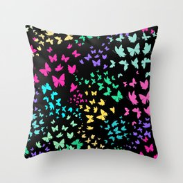 Beatufiful Colorful Butterfly Pattern Throw Pillow