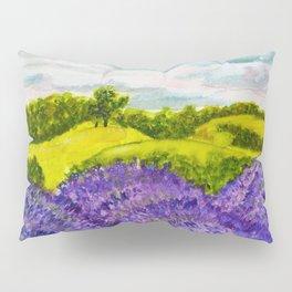 Lavender Fields Watercolor Pillow Sham