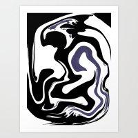 dancer Art Prints featuring Dancer by Loredan