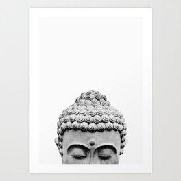Shy Buddha Art Print