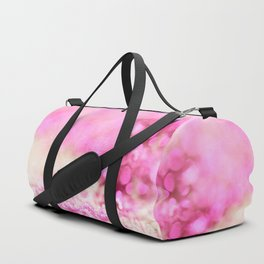 Pink and white shiny glitter effect print - Sparkle Valentine Backdrop Duffle Bag
