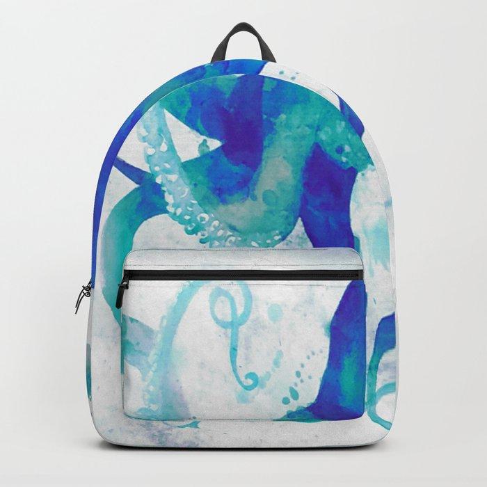 Octopus Watercolor Rucksack