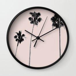 Summer palm three Wall Clock
