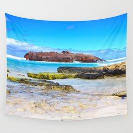 Santa Maria Wreck Cape Verde Wall Tapestry