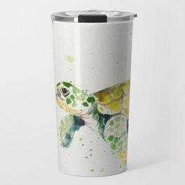 turtle watercolor art Travel Mug