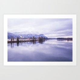 Serenity Lake Art Print