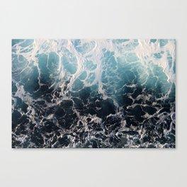 Blue Wave Surf Canvas Print