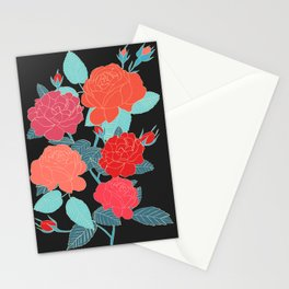 Rose Garden - Dark Stationery Cards