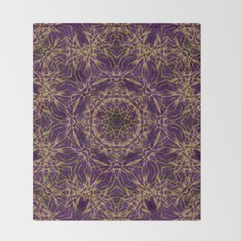 Purple Mandala Hippie Pattern Throw Blanket