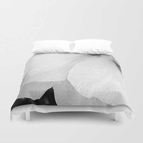 White Petals | Macro Nature Duvet Cover