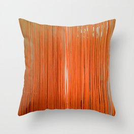 ORANGE STRINGS Throw Pillow