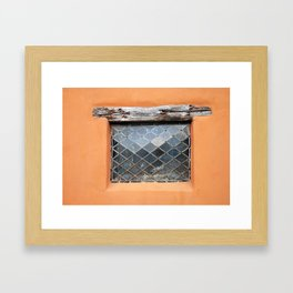 pueblo window Framed Art Print