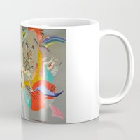 kandinsky Mugs featuring Kandinsky Composition Study by Andrew Sherman
