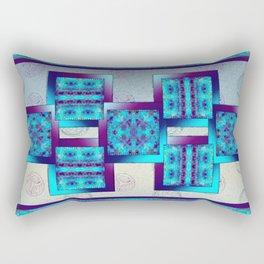 Batik Blues Quilt Rectangular Pillow