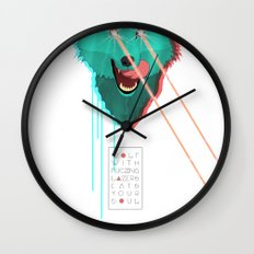 Wolf With F**king lasers Wall Clock