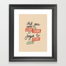 Ever Stop Framed Art Print