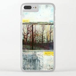Outside She Could Live Clear iPhone Case