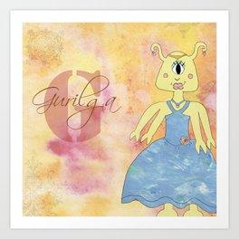 Princess Gurilga (Princess Monsters A to Z) Art Print