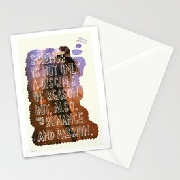 Hand-Drawn Type Stephen Hawking Quote Stationery Cards