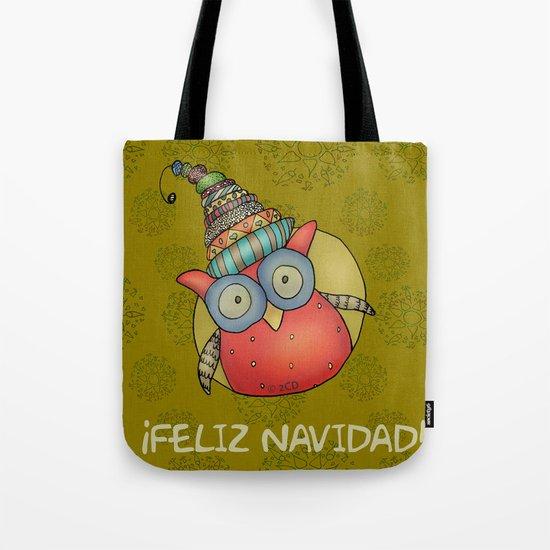 Puki Owl - mustard Tote Bag