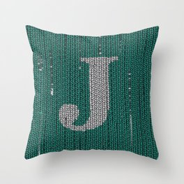 Winter clothes. Letter J III Throw Pillow