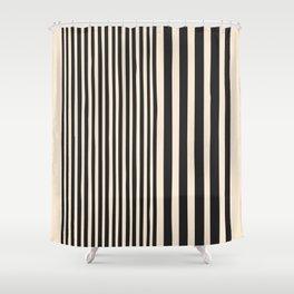 black and white - Mid century modern, mid century wall art, mid century art, mid century print, geom Shower Curtain