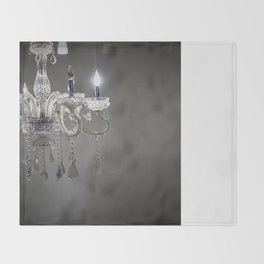 chandelier in NYC Throw Blanket