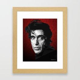 Al Pacino low poly Framed Art Print