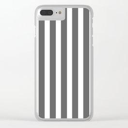 bold dark grey bars pattern Clear iPhone Case