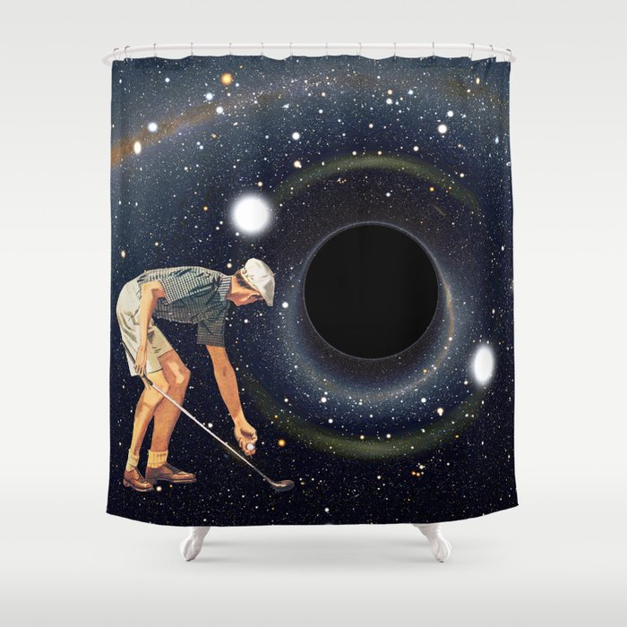 Black Hole In One Shower Curtain