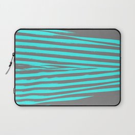 Aqua & Gray Stripes Laptop Sleeve