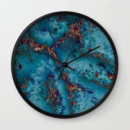 Blue fantasy marble Wall Clock