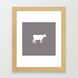 Cow: Purple Lavender Framed Art Print