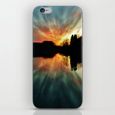 Magical evening at the lake iPhone & iPod Skin