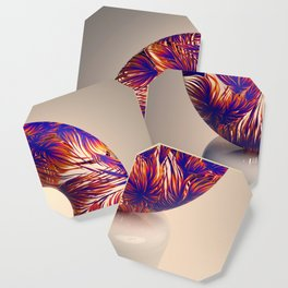 Floral Transparency Coaster