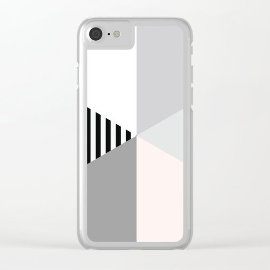 Minimalist Geometric Clear iPhone Case