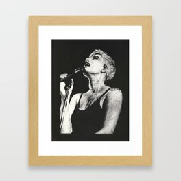 Halsey Black and White Scratchboard Framed Art Print