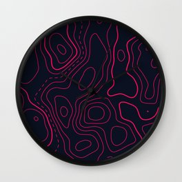 Topographic Map Pattern Wall Clock